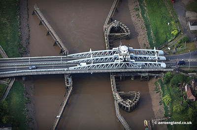 aerial photograph of Crosskeys Bridge Sutton Bridge , Lincolnshire UK