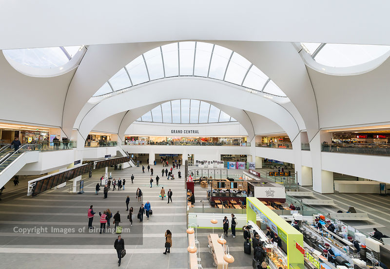 Grand Central shopping centre at New Street Railway Station, Bimringham