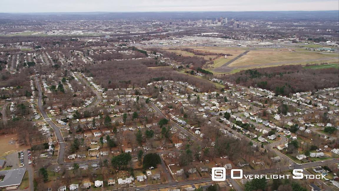 Over Suburbs of Hartford, Connecticut. Shot in November