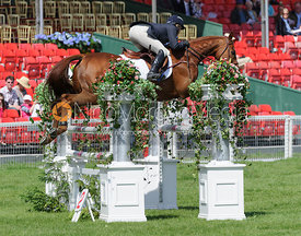 Colleen Rutledge and SHIRAZ - show jumping phase,  Mitsubishi Motors Badminton Horse Trials, 6th May 2013.
