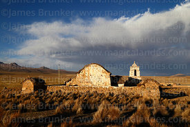 Rustic church near Lagunas, Sajama National Park, Bolivia