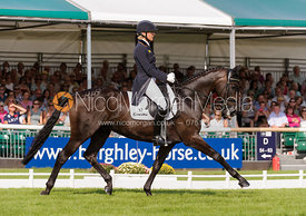 Ingrid Klimke and FRH BUTTS ABRAXXAS - dressage phase,  Land Rover Burghley Horse Trials, 5th September 2013.