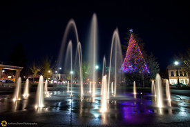 Downtown Chico Plaza at Christmas #3
