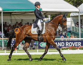 Dee Hankey and CHEQUERS PLAYBOY - dressage phase,  Land Rover Burghley Horse Trials, 5th September 2013.
