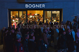Official Opening Party of the Willy Bogner Sport and Fashion Shop at the Plaza de Mauritius in Saint Moritz
