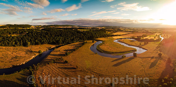 River Severn loops at Leighton, Shropshire