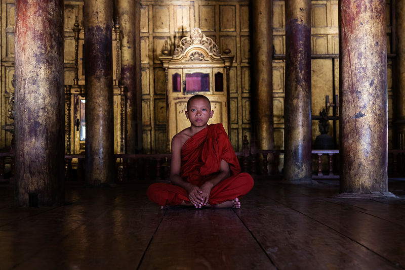Portrait of a Young Novice Monk at the Golden Palace Monastery