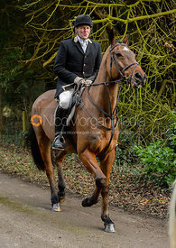 Willie Reardon leaving the Cottesmore Hunt meet at Little Dalby Hall