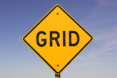 Road sign, Grid.