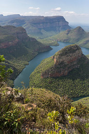 The Three Rondawels, Blyde River Canyon Nature Reserve, Panorama Route , South Africa; Portrait