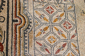 Mosaic on the floor of a wealthy house at Dougga; Tunisia; Landscape