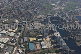 Manchester Broadway and The Quays development area Salford Quays Salford