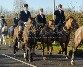 Dean Cripps, Angus Smales, Ashley Bealby - Boxing Day Meet of the Cottesmore Hunt, Oakham 26/12