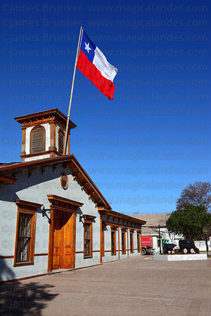 Restored main building of former railway station , Copiapó , Region III , Chile