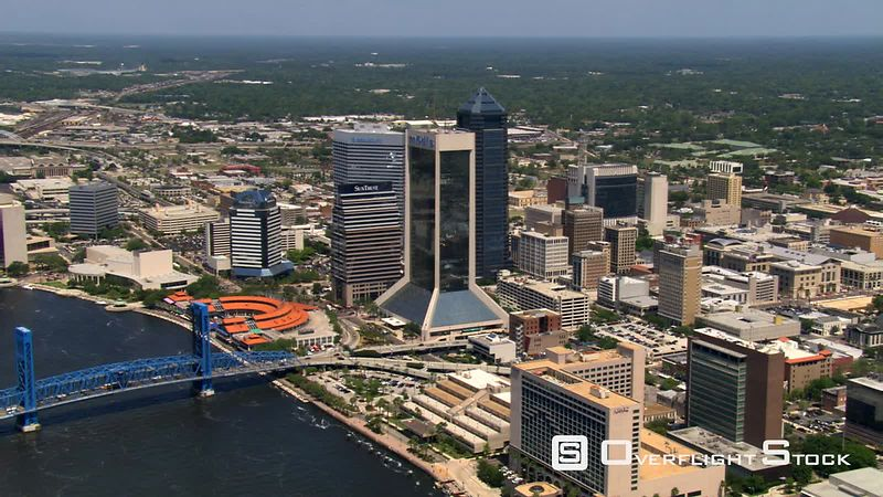 Aerial view of Jacksonville, Florida, cityscape