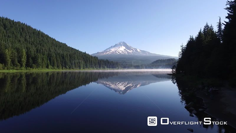Mountain reflected in pristine lake Trillium Lake Oregon