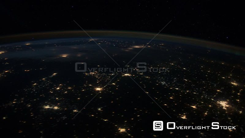 Time-Lapse from ISS over  USA Mexico Exp30 Aurora Borealis 30 Jan 2012