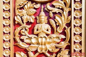 Decoration on a door of the Royal Palace, Phnom Penh, Cambodia