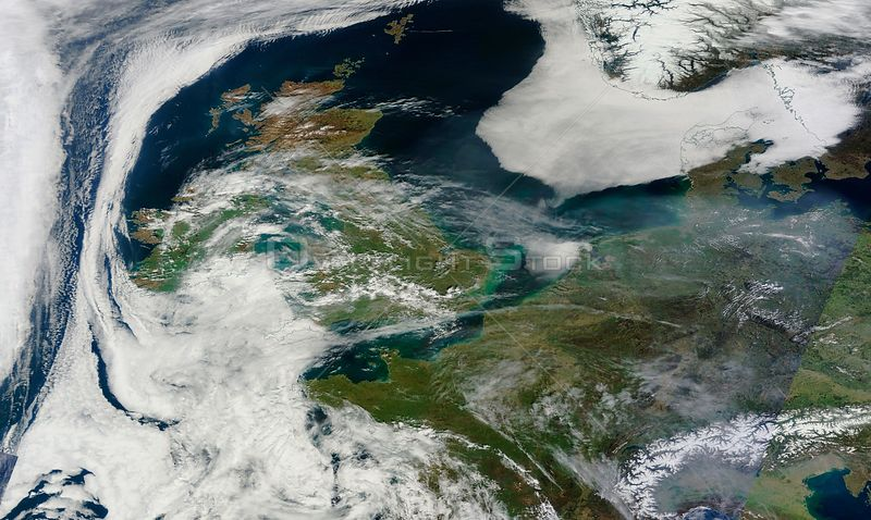 EARTH Western Europe -- 10 Apr 2015 -- This NASA MODIS satellite image from 10 Apr 2015 (latest available from the Terra sensor) showing a build up of air pollution over south-eastern England