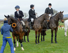 Marianne Knipe, George Ward at the meet at Highfield Farm