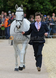 Francis Whittington and EASY TARGET - First Horse Inspection, Mitsubishi Motors Badminton Horse Trials 2014