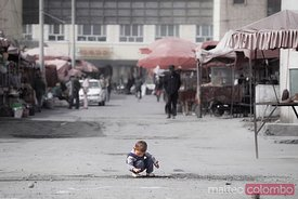 Child in a street of Tashkurgan, Xinjiang, China