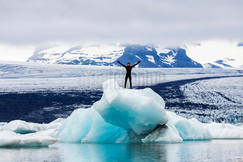 George Cowan in the Glacial Lagoon