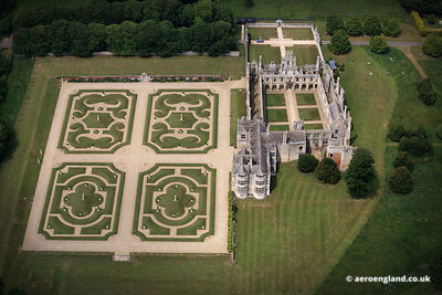 aerial photograph of Kirby Hall Northamptonshire