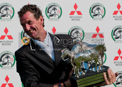 Mark Todd with Badminton Trophy photos