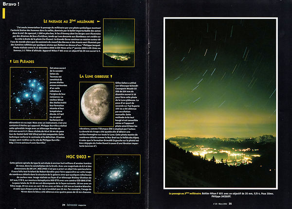 ASTRONOMIE MAGAZINE - Mars 2001 photos
