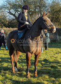 Frances Moulaert arriving at the meet - The Quorn at Cream Gorse Farm