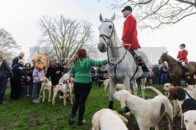 Andrew Osborne MFH and the Cottesmore hounds - The Cottesmore Hunt's Boxing Day meet 2013.