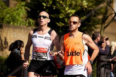 Ricardo de Pedraza Losa  running in the T51 event of the 2014 Virgin Money London Marathon