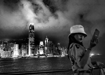 Hong Kong Skyline Art Photographs