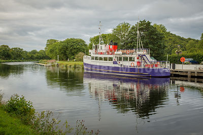 The Jacobite Queen pleasure steamer on the Caledinian Canal in Inverness