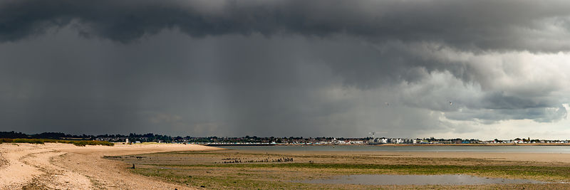 Rain squall approaching Brightlingsea