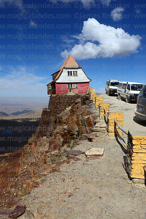 The old ski hut on Mt Chacaltaya, Cordillera Real, Bolivia