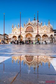 St Mark's cathedral reflection, Venice, Italy