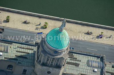 Aerial view of The Custom House, Dublin, Ireland