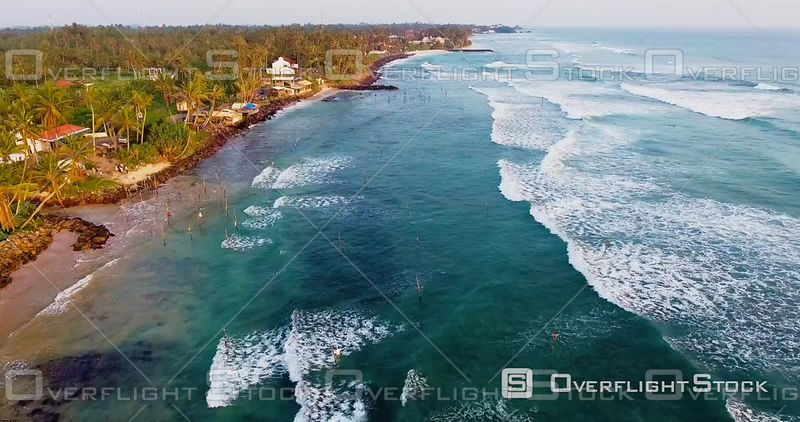 Sri Lanka, Area of Moratuwa, Seen by Drone