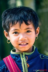 Portrait of young child, Myanmar