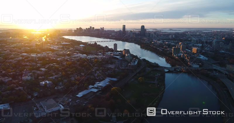 Dawn Boston and Charles River Showcase at Golden Hour Massachusetts