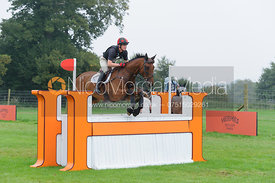 Matthew Heath and THE LION - cross country phase,  Land Rover Burghley Horse Trials, 6th September 2014.
