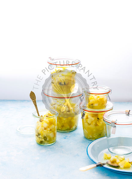 Instant Lemon Pickle  made with Lemon, Ginger, Green Chillies and Salt