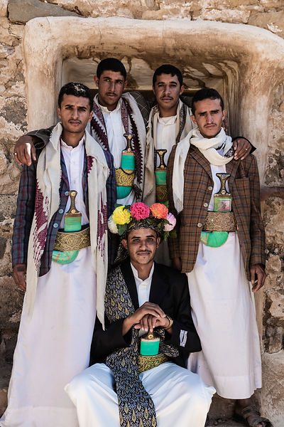 Portrait of a Groom with his Best Men