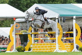 Neil Spratt and UPLEADON - show jumping phase, Burghley Horse Trials 2013.