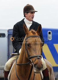 Ashley Bealby at the meet - The Cottesmore Hunt at Ranksboro, 26-11-13.