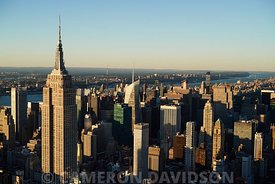 Aerial view of midtown Manhattan