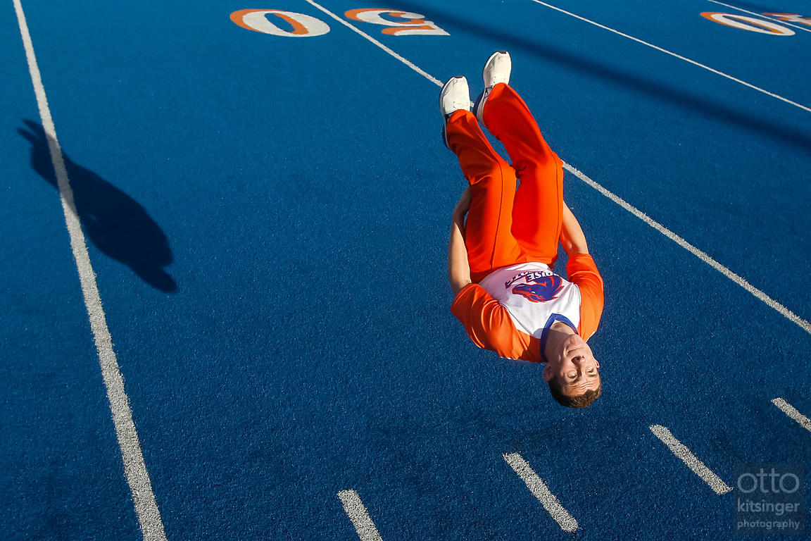 Boise State University cheerleader Ben Buckels