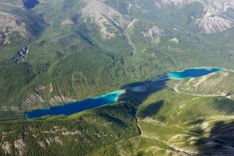Aerial view of the Northern Rockies, Muskwa-Kechika Protected Area, British Columbia, Canada. July 2011 .